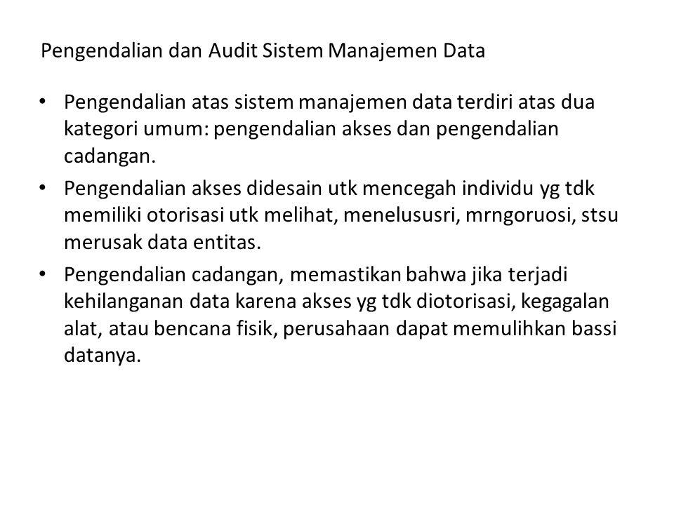 Pengendalian dan Audit Sistem Manajemen Data