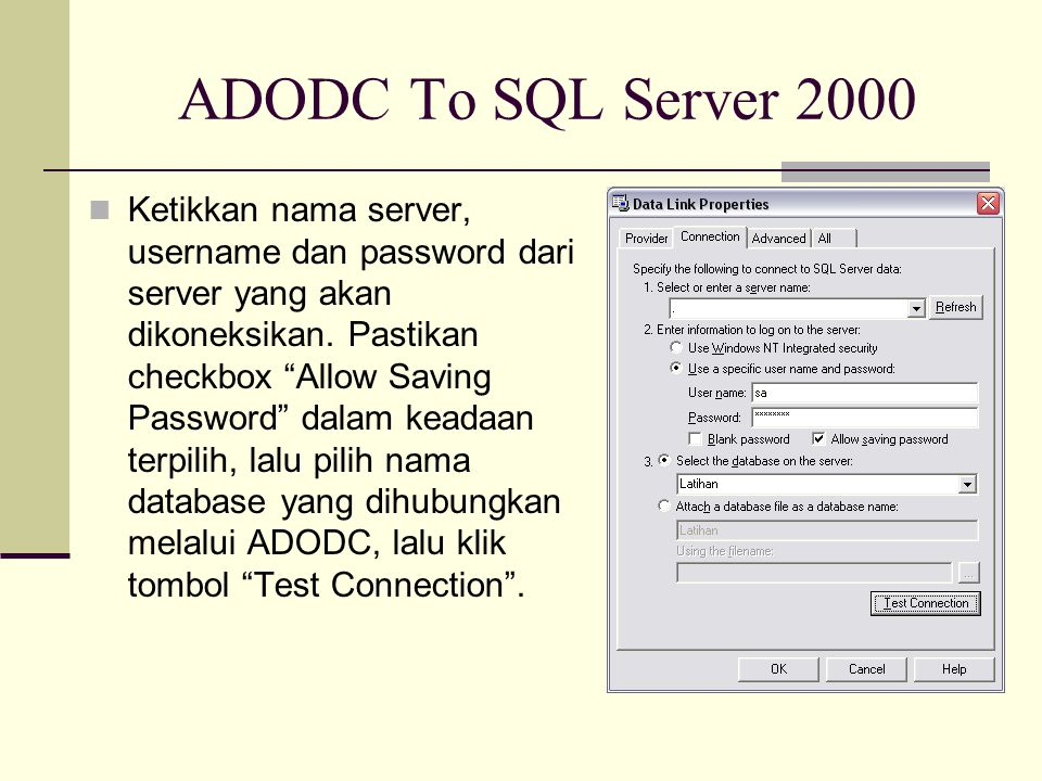 ADODC To SQL Server 2000