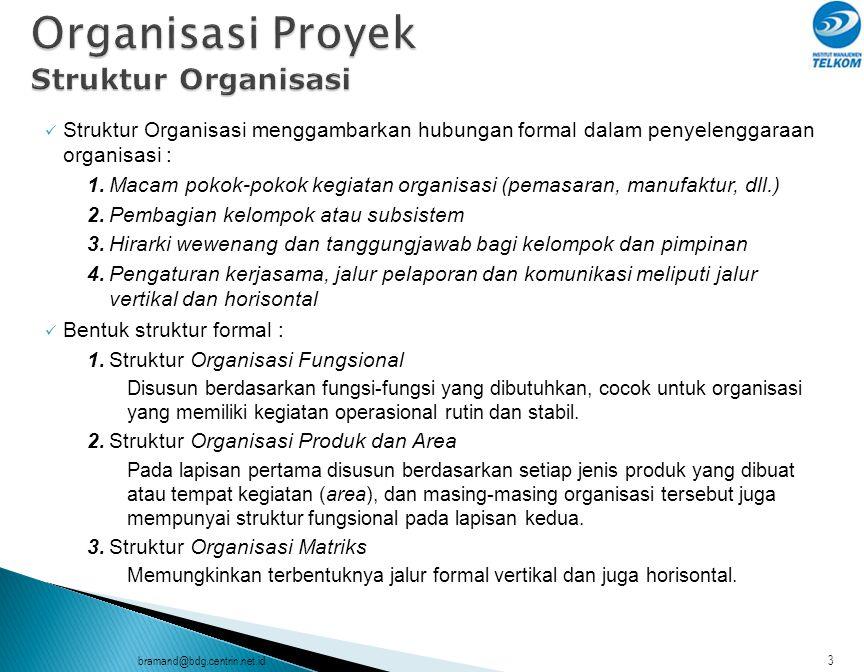 Organisasi Proyek Struktur Organisasi