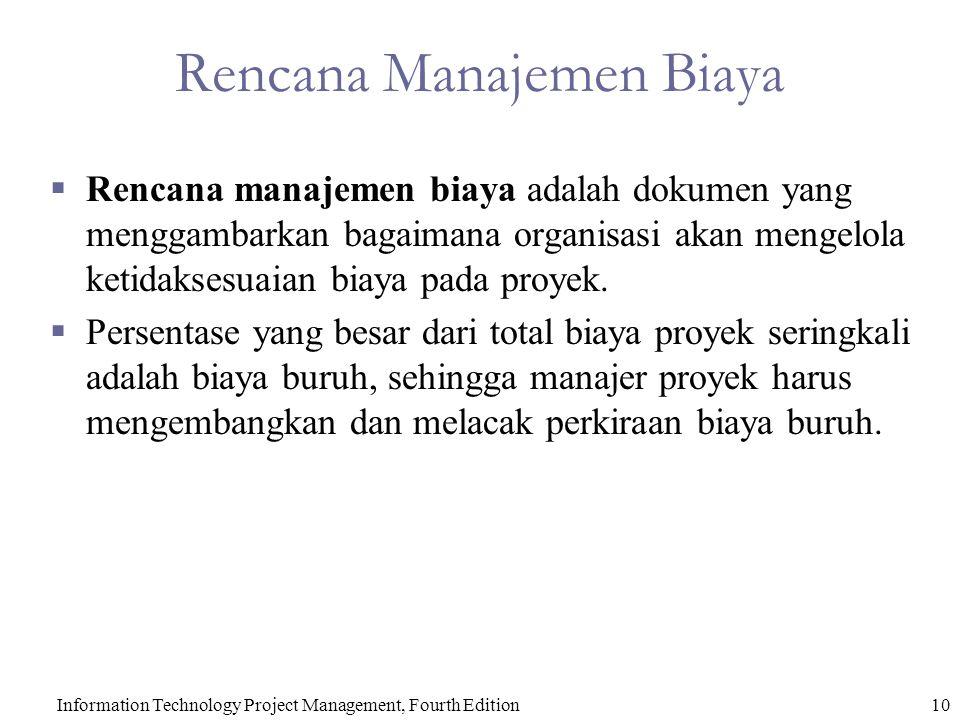 Rencana Manajemen Biaya