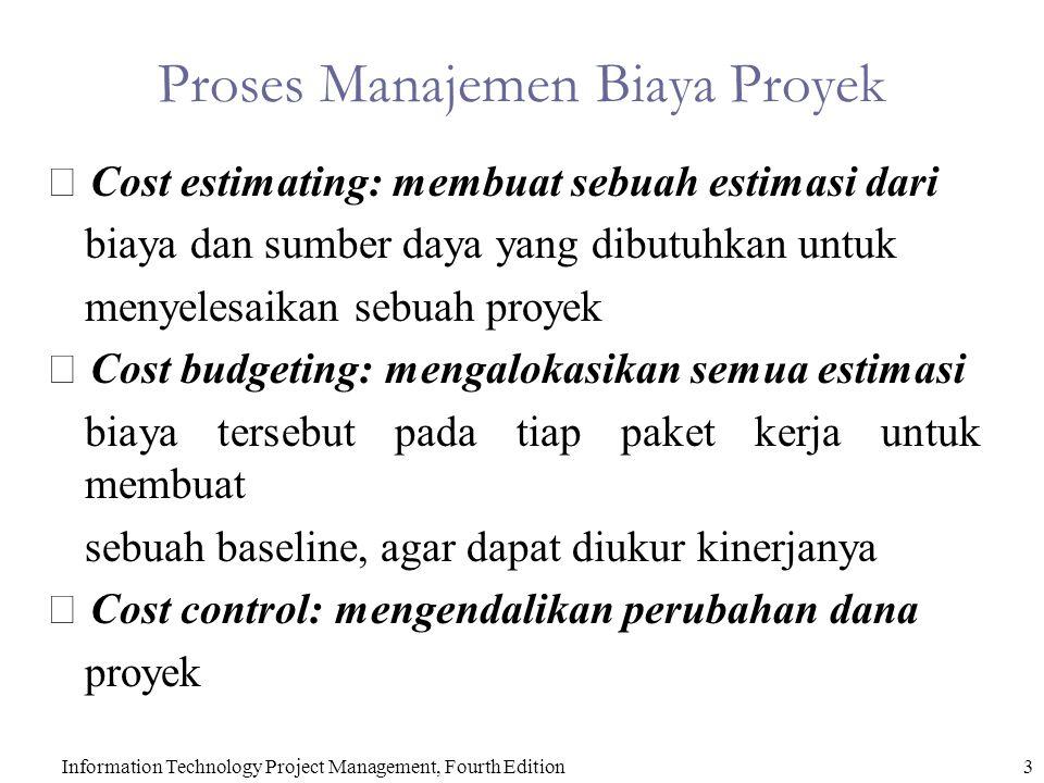 Proses Manajemen Biaya Proyek