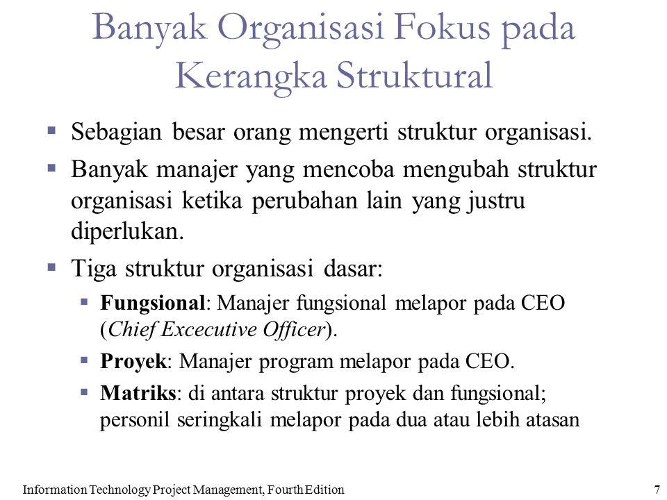Banyak Organisasi Fokus pada Kerangka Struktural