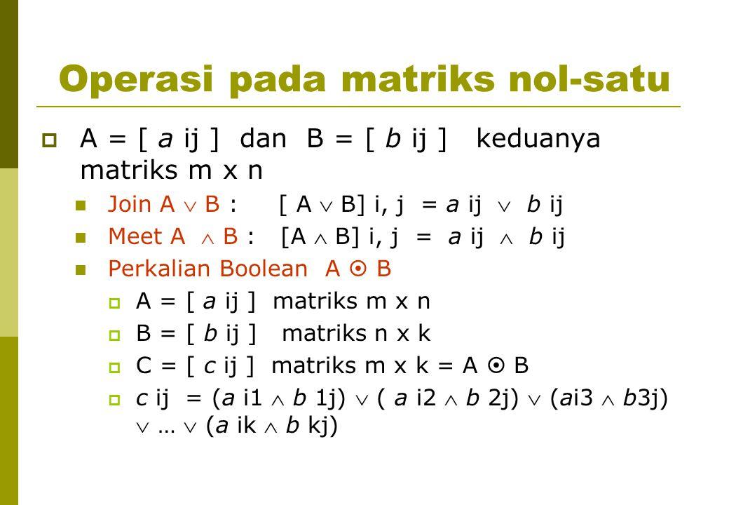 Operasi pada matriks nol-satu