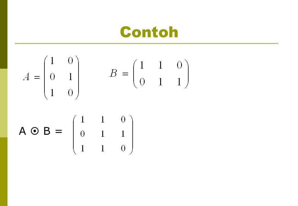 Contoh A  B =