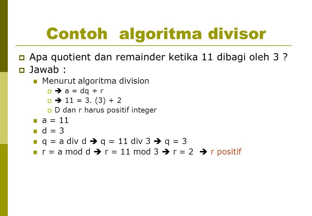 Contoh algoritma divisor