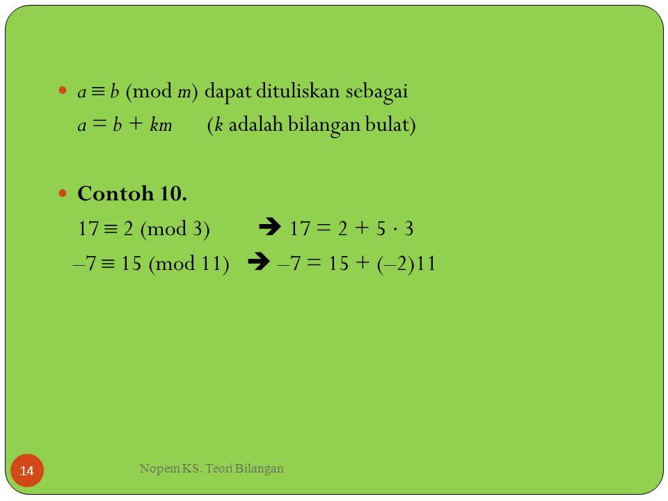 Nopem KS. Teori Bilangan