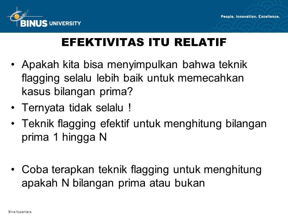 EFEKTIVITAS ITU RELATIF