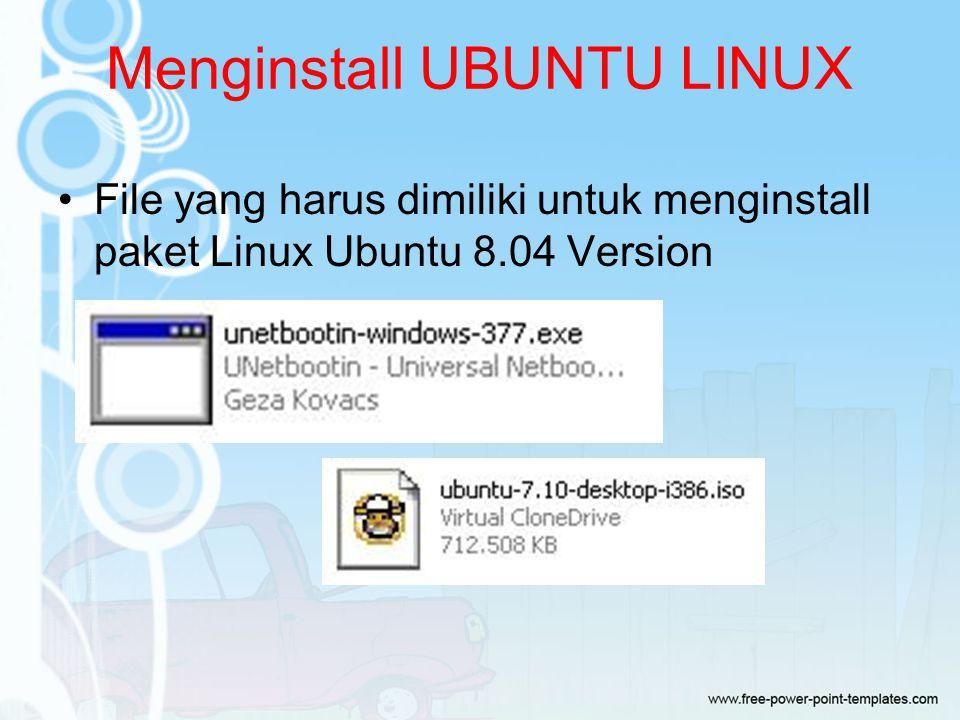 Menginstall UBUNTU LINUX