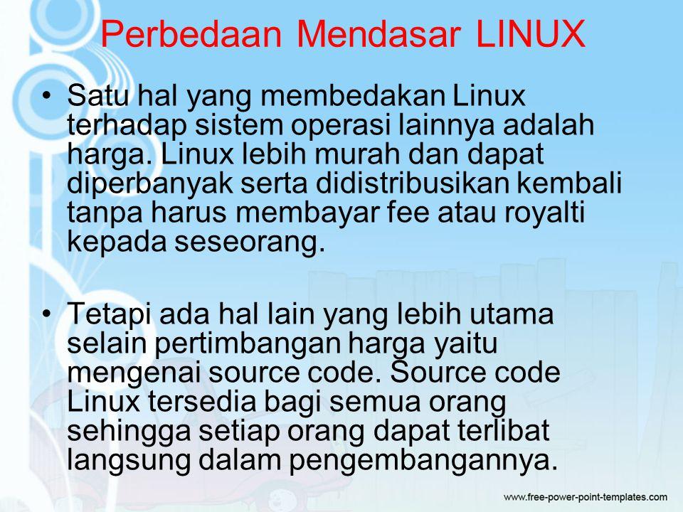 Perbedaan Mendasar LINUX