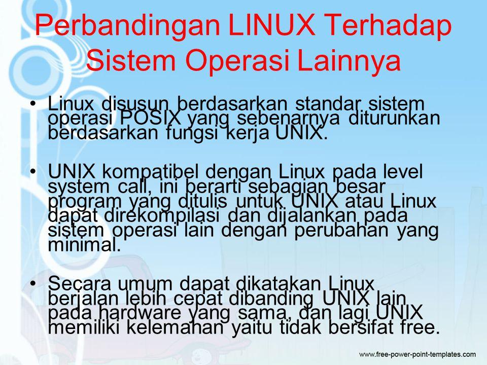 Perbandingan LINUX Terhadap Sistem Operasi Lainnya