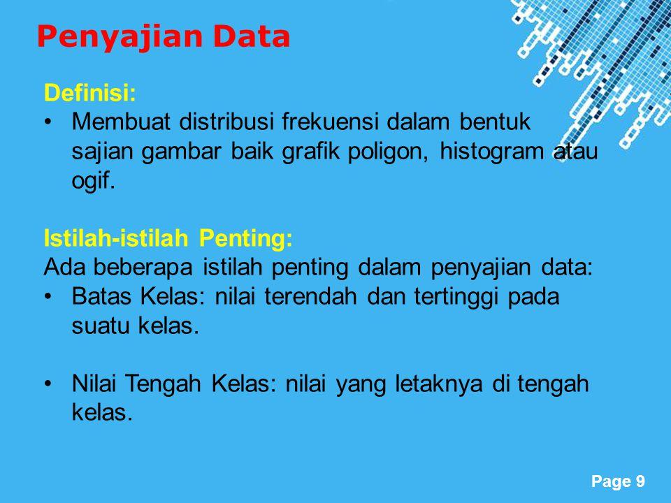 Penyajian Data Definisi: