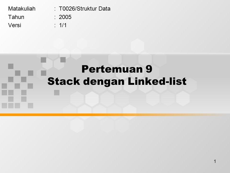 Pertemuan 9 Stack dengan Linked-list