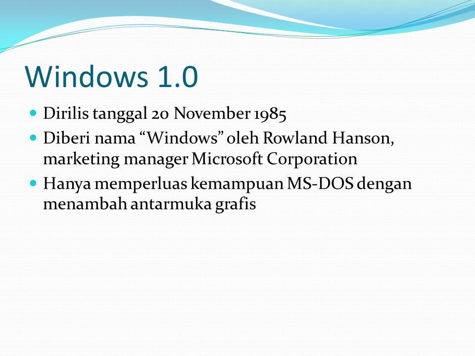 Windows 1.0 Dirilis tanggal 20 November 1985