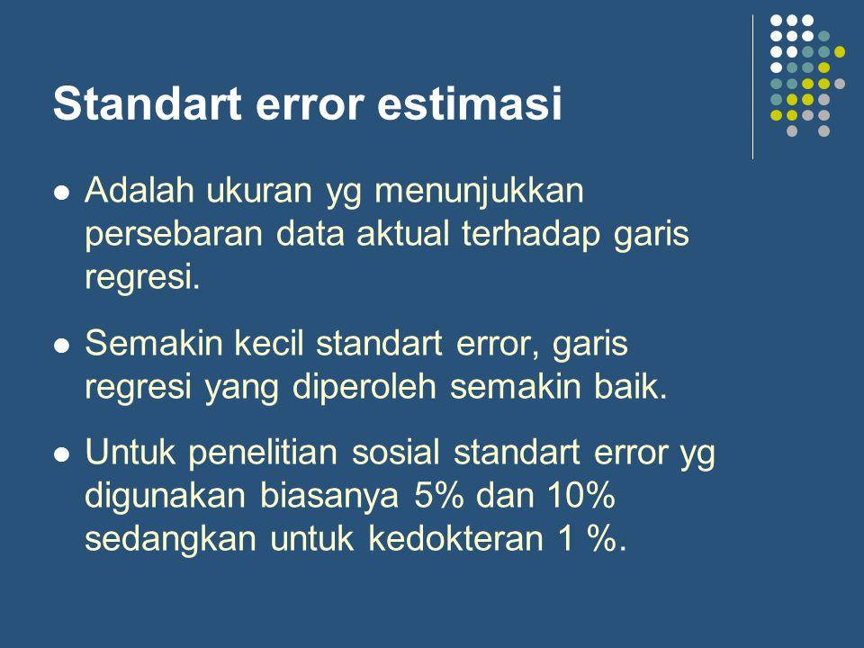 Standart error estimasi