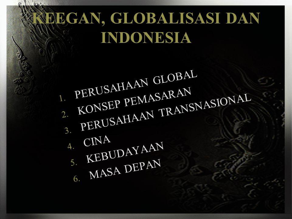 KEEGAN, GLOBALISASI DAN INDONESIA
