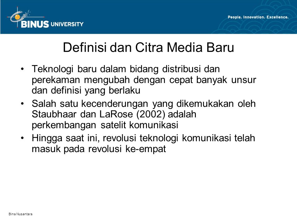 Definisi dan Citra Media Baru