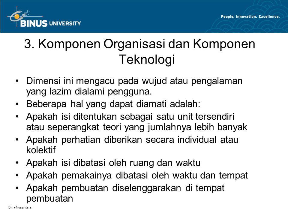 3. Komponen Organisasi dan Komponen Teknologi