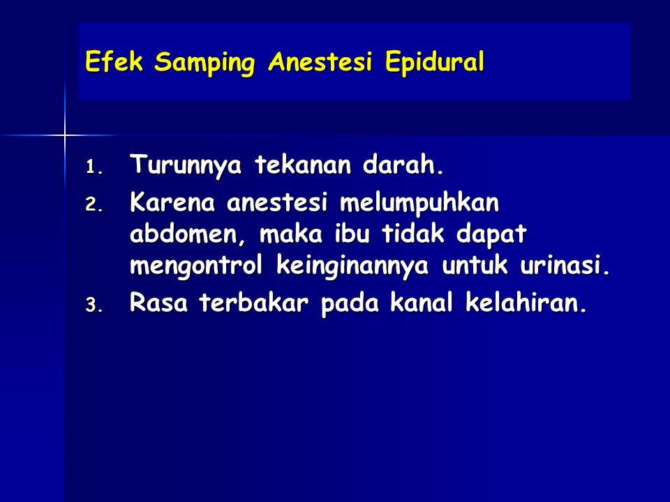 Efek Samping Anestesi Epidural