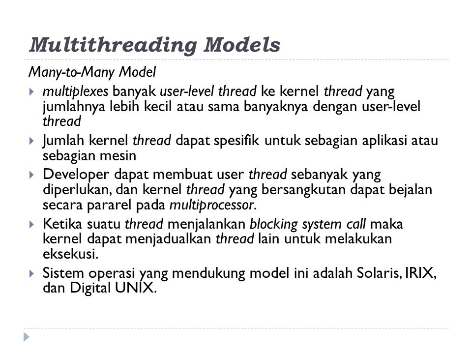 Multithreading Models