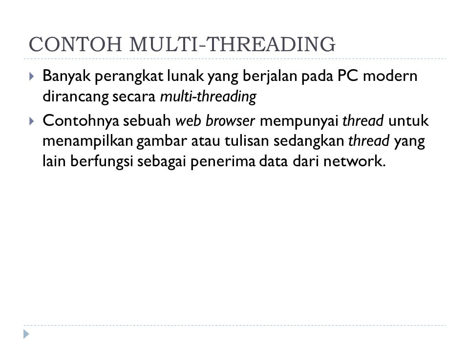 CONTOH MULTI-THREADING