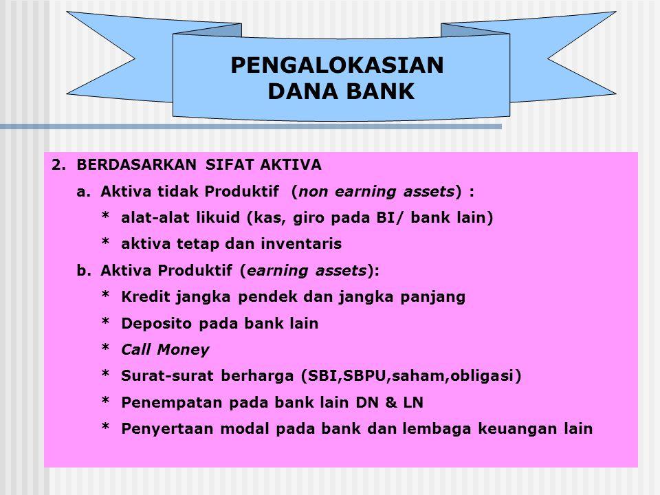 PENGALOKASIAN DANA BANK