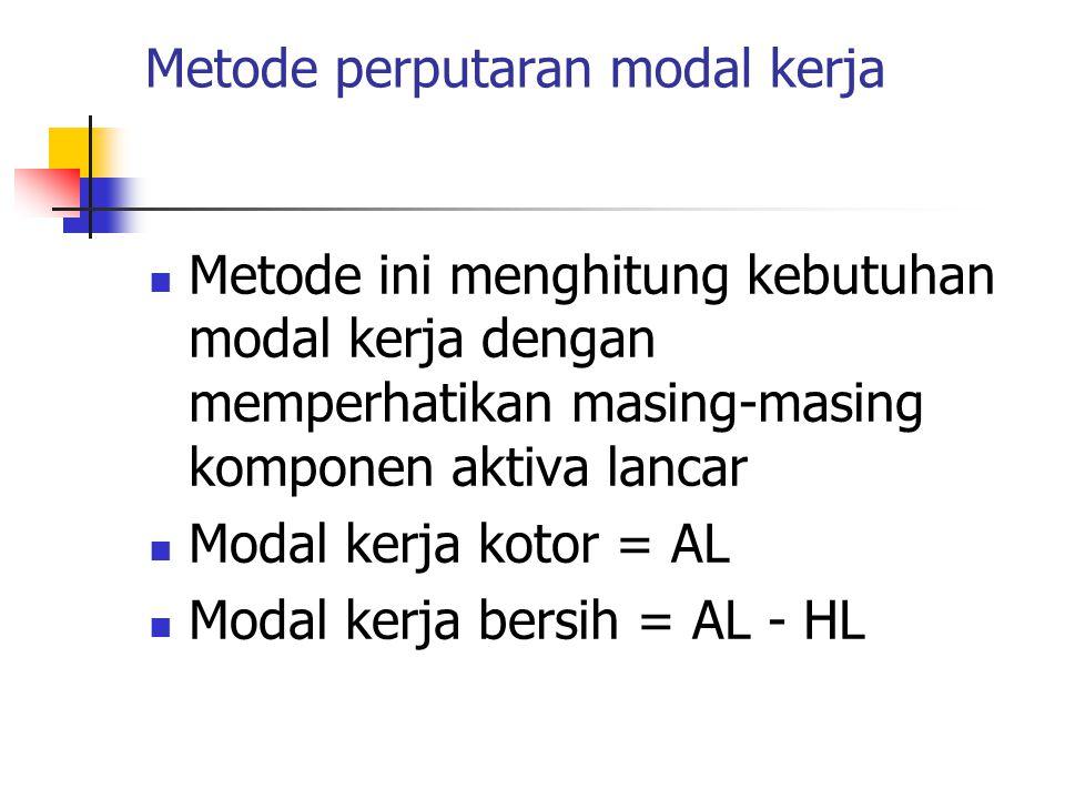 Metode perputaran modal kerja