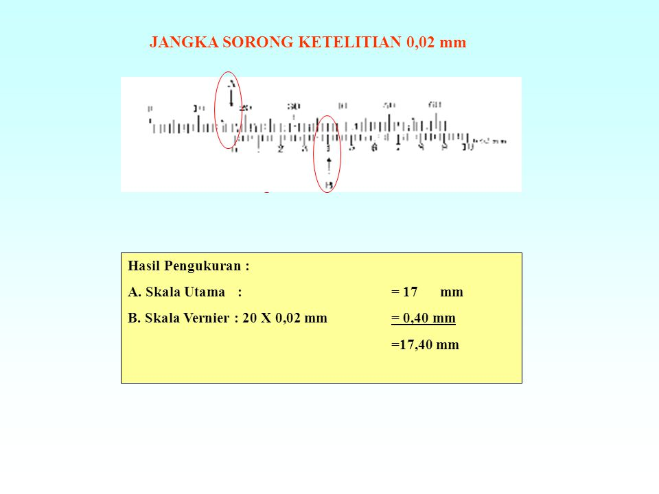 JANGKA SORONG KETELITIAN 0,02 mm