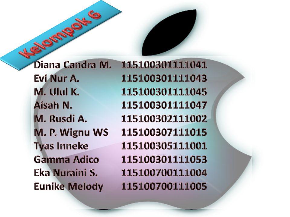 Kelompok 6 Diana Candra M. 115100301111041 Evi Nur A. 115100301111043