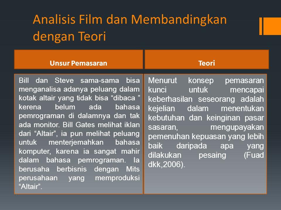 Analisis Film dan Membandingkan dengan Teori