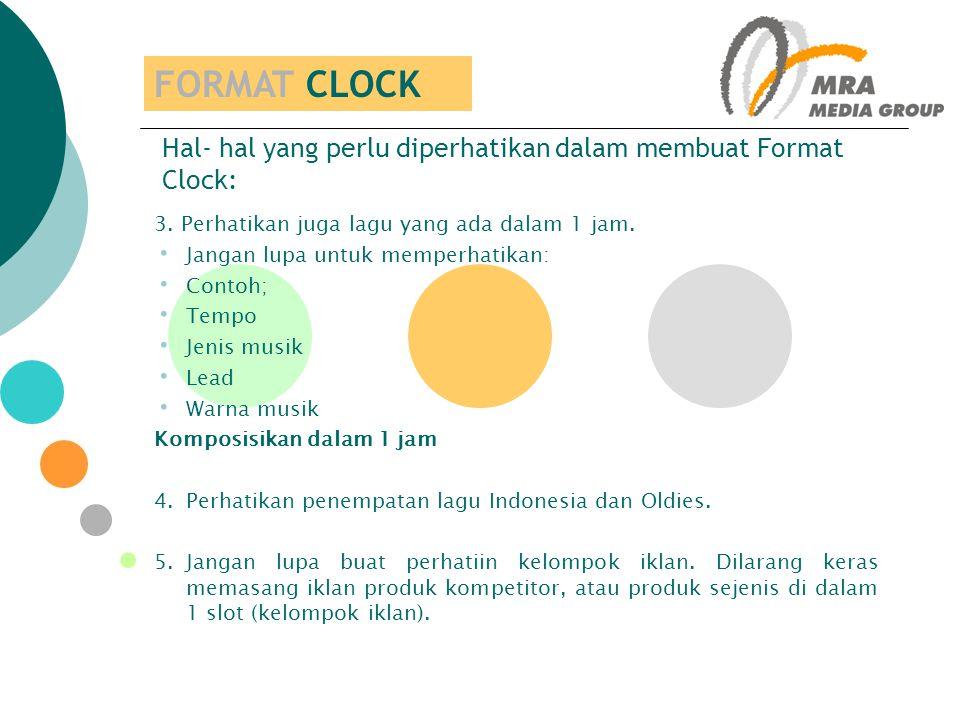 Hal- hal yang perlu diperhatikan dalam membuat Format Clock: