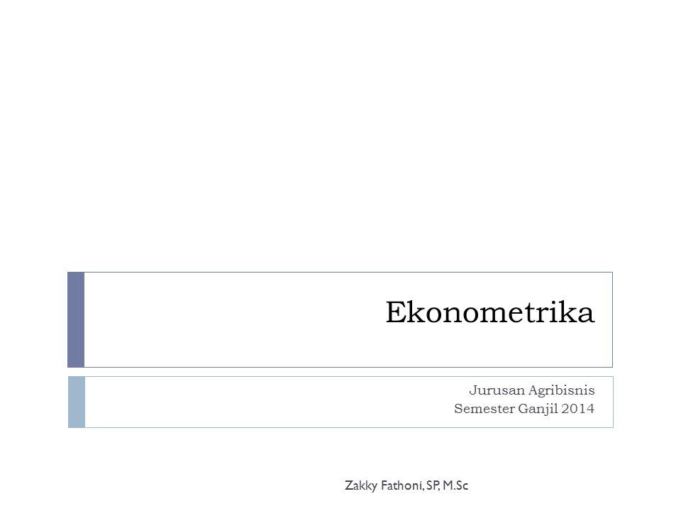 Jurusan Agribisnis Semester Ganjil 2014