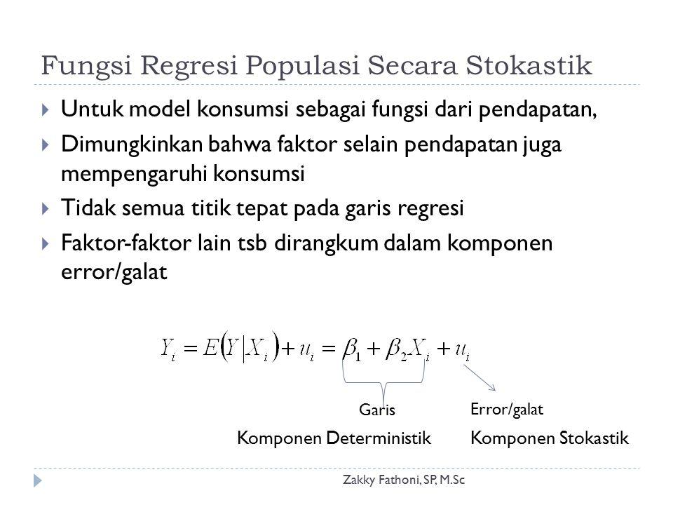 Fungsi Regresi Populasi Secara Stokastik