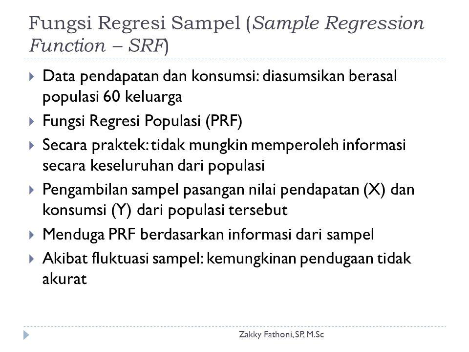 Fungsi Regresi Sampel (Sample Regression Function – SRF)