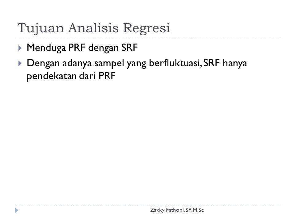 Tujuan Analisis Regresi