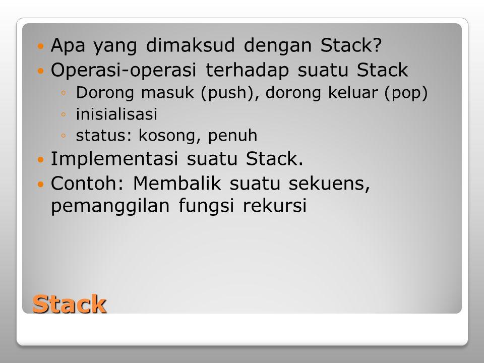 Stack Apa yang dimaksud dengan Stack