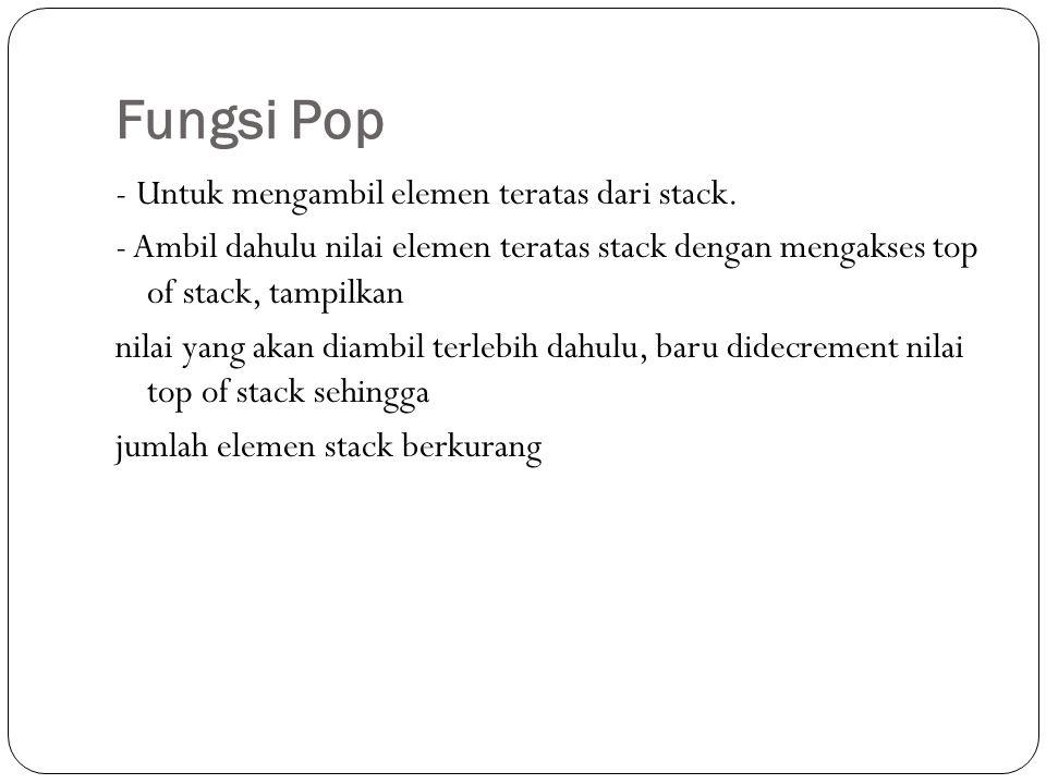Fungsi Pop