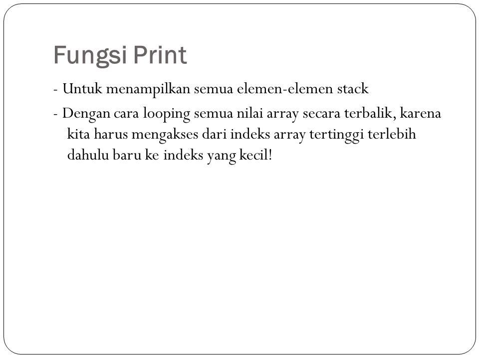 Fungsi Print
