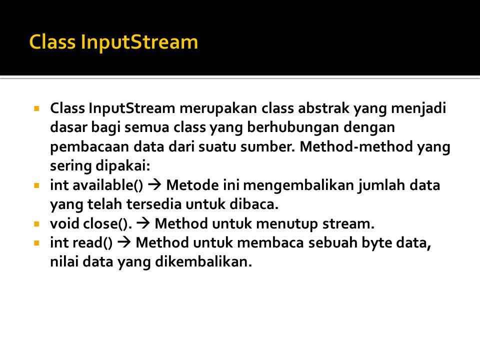 Class InputStream