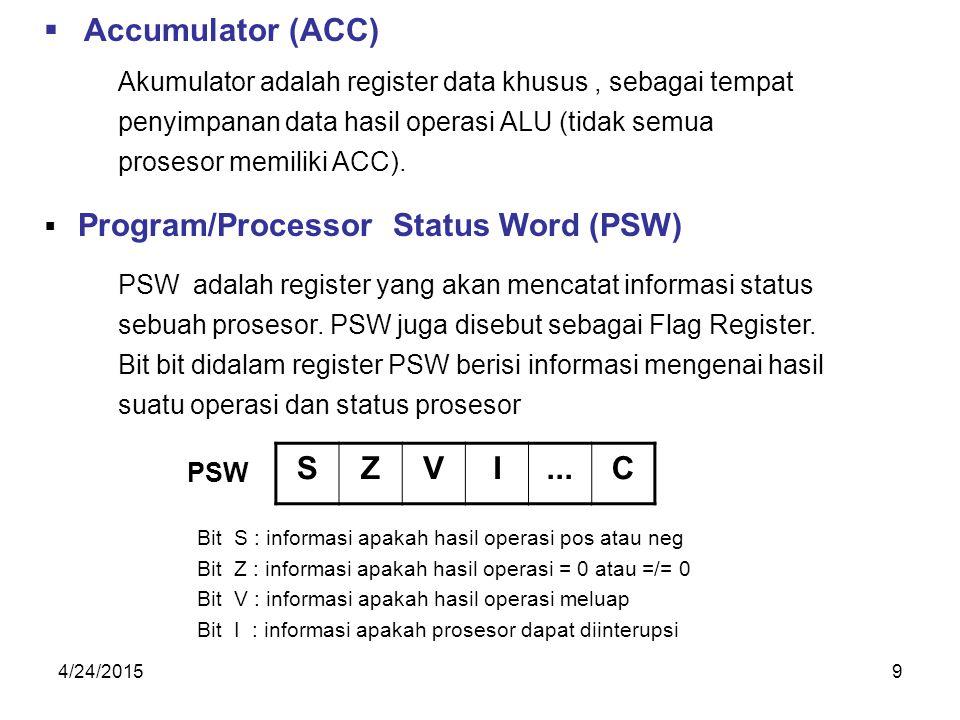 Accumulator (ACC) S Z V I ... C