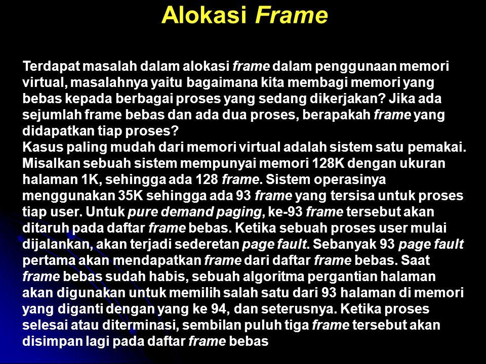 Alokasi Frame
