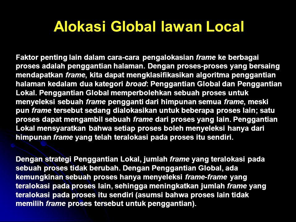 Alokasi Global lawan Local