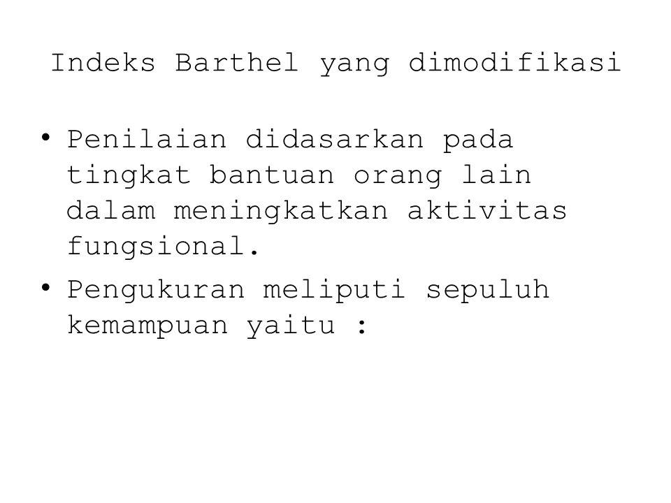 Indeks Barthel yang dimodifikasi