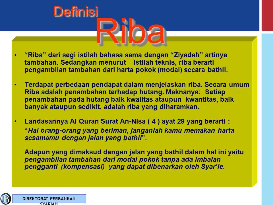 Definisi Riba.