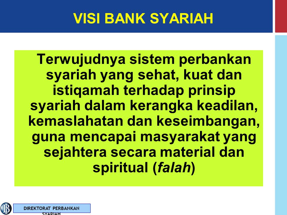 VISI BANK SYARIAH