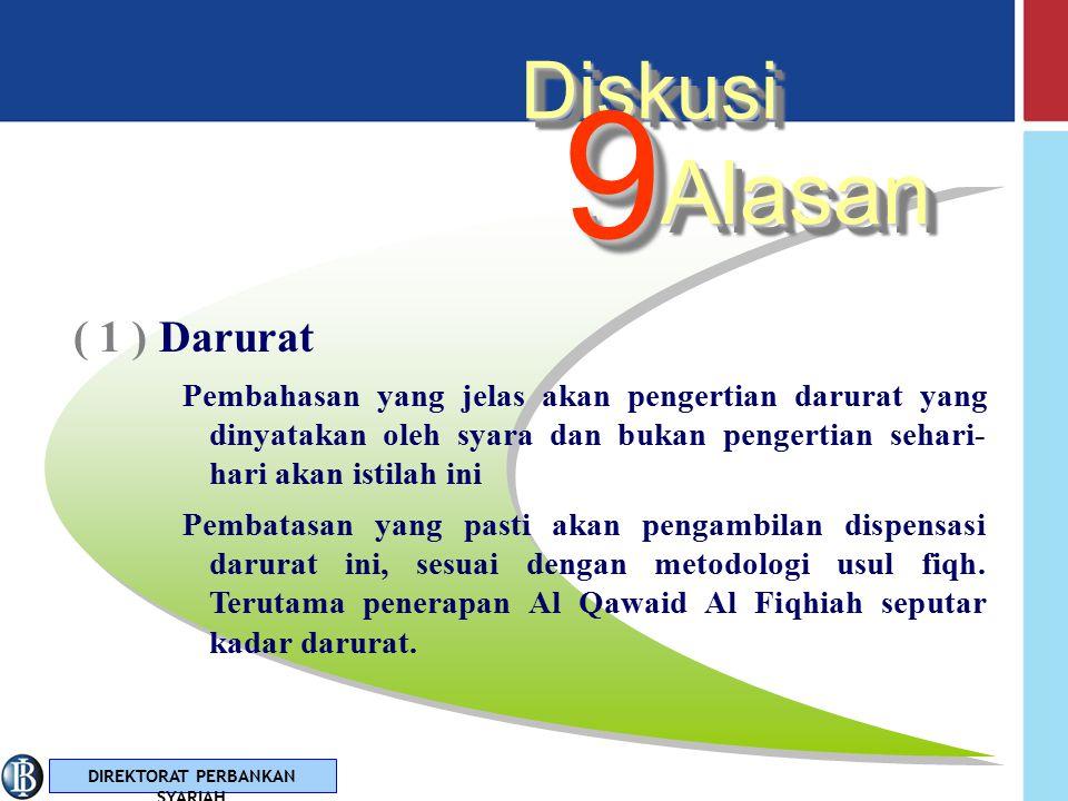 9 Alasan Diskusi ( 1 ) Darurat