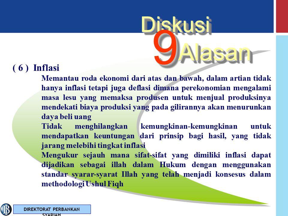 9 Alasan Diskusi ( 6 ) Inflasi