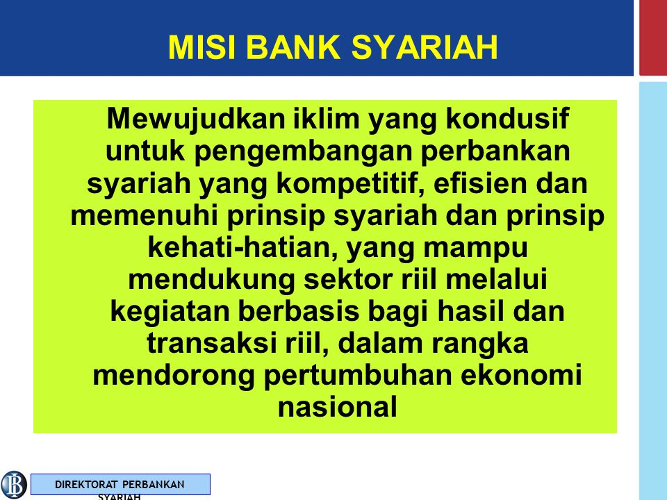 MISI BANK SYARIAH