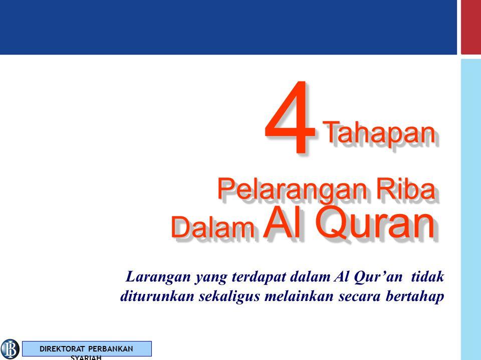 4 Tahapan Pelarangan Riba Dalam Al Quran