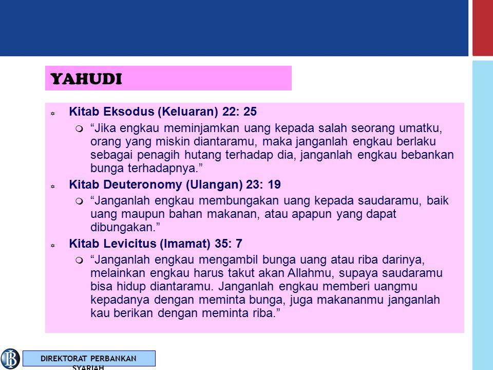 YAHUDI Kitab Eksodus (Keluaran) 22: 25
