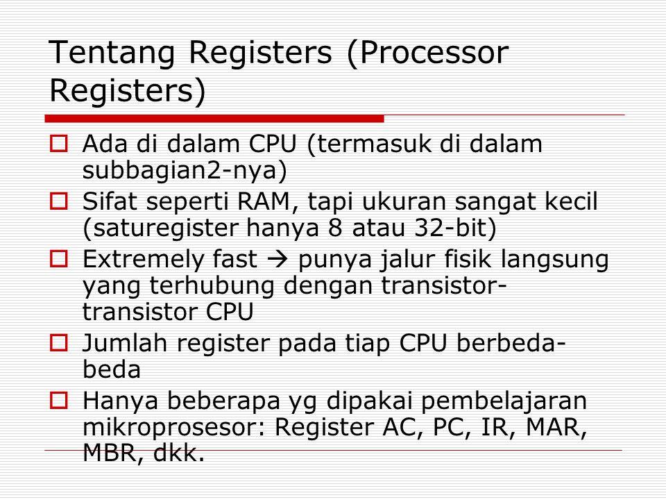 Tentang Registers (Processor Registers)